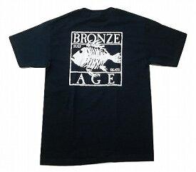 BRONZE AGE ブロンズエイジ SQUARE スクエアフィッシュ ロゴ Tシャツ 紺 ネイビー