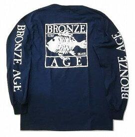 BRONZE AGE ブロンズエイジ SQUARE スクエア フィッシュ ロングスリーブ ロンT 紺 ネイビー