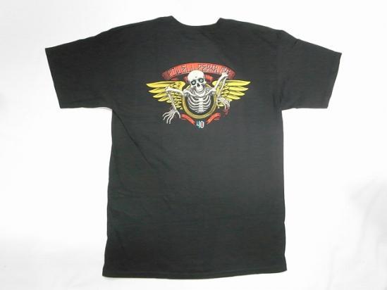 40周年 POWELL PERALTA パウエル 40TH WINGED RIPPER ウイングリッパー Tシャツ 黒 ブラック