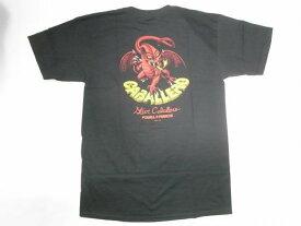 POWELL パウエルペラルタ CAB DRAGON 2 CABALLERO キャバレロ レッドドラゴン Tシャツ 黒x赤