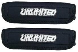 【2枚セット】タイダウンベルト用 カバー タイダウンパット ミディアムタイプ トレーラー部品 トレーラー ラッシングベルト ULT131BK ウエット生地 UNLIMITED