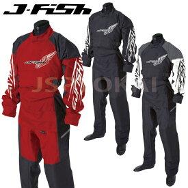 【SALE】ジェイフィッシュ ドライスーツ J-FISH ソックス 胸ファスナー 小用ファスナー ジェットスキー 水上バイク ウエイクボード