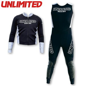 【ポイント10倍】UNLIMITED WETSUITS JHON&JACKET ウエットスーツ メンズ アンリミテッド ジャケット & ロングジョン 2点セット 水上バイク ジェットスキー