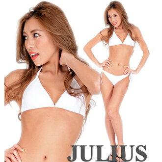 ■Beach princess triangle bikini swimsuit (with a chest pad) fullback / white white