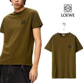 ロエベ LOEWE アナグラム Tシャツ Dark Khaki Green