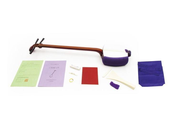 ■ 長唄三味線 普及セット SN3   三つ折 日本和楽器製 にちわ