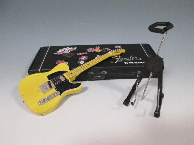 ■ミニチュア楽器 Axe Heaven フェンダー・テレキャスター Butterscotch Blonde FT-001