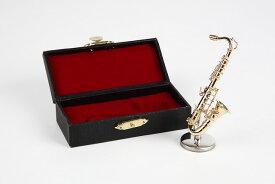 ミニチュア楽器 テナーサックス 1/12サイズ