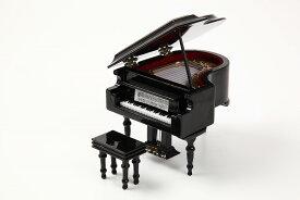 ミニチュア楽器 グランドピアノ 9cm 黒