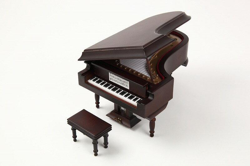 ミニチュア楽器 グランドピアノ 18cm 茶(艶消し)