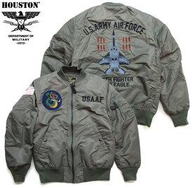 HOUSTON ジャケット ヒューストン MA-1 ミリタリージャケット カスタムEMB JACKET 戦闘機 50915