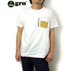 grn ポケットTシャツ ビール キャンプ サングラス ユニセックス 男女兼用tシャツ アウトドアtシャツ ジーアールエヌ半袖tシャツ 021090