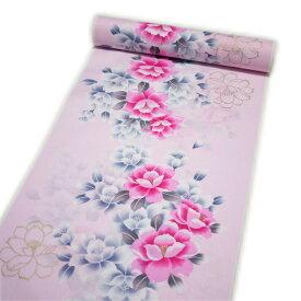 セール SALE 浴衣 レディース 反物 レトロ ラメ入り 教材用に最適 39センチ幅(ピンク系)日本製