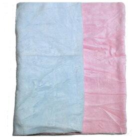 洗ってもふんわりペット用綿/ウール毛布[毛羽部分]無地2枚セット