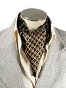 エレガント袋縫い幾何柄の紳士用絹100%シルクスカーフ