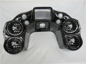 Harley Road Glide FLTR FLTRX 1998〜2013 インナーフェアリング 4スピーカー オーディオ 6.5インチ