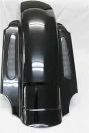 Harley ハーレー デュアルカットアウト 1993-2008年 LEDテールウィンカー CVOスタイル リアフェンダー 黒