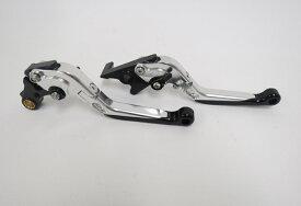 Honda レブル NS-1 GROM CBR400R/CB400F/400X 2013-2019 可倒式 タブルビレットレバー 銀