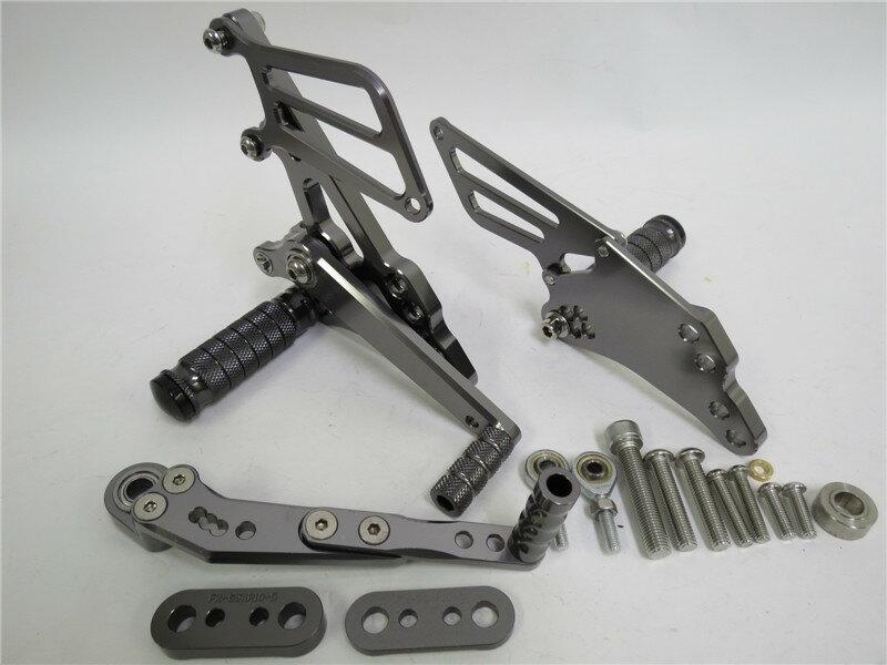 CNC 調整式 gsx-r1000 2009-2016 K9 バックステップ 灰