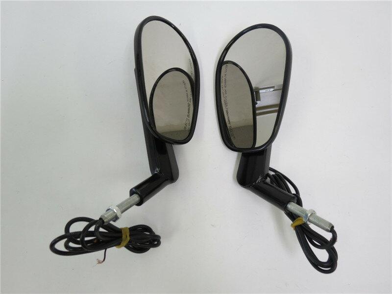 ハーレー ツーリング/ロードキング/VRSCAW V-ROD LED ウィンカー ミラー 黒