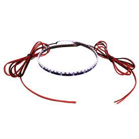 側面発光12V(1本) 防水LEDテープライト 1チップ 90cm (120LED/m) 両端子 [黒ベース]