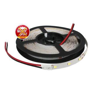 薄型12V非防水LEDテープライト1チップ500cm両端子[白ベース]