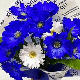 ガーベラ 青 ブルー 花 ミックス 花束 プレゼント ギフト ホワイトデー バレンタイン 誕生日 結婚記念日 ブライダル ブーケ 花ギフト クリスマス