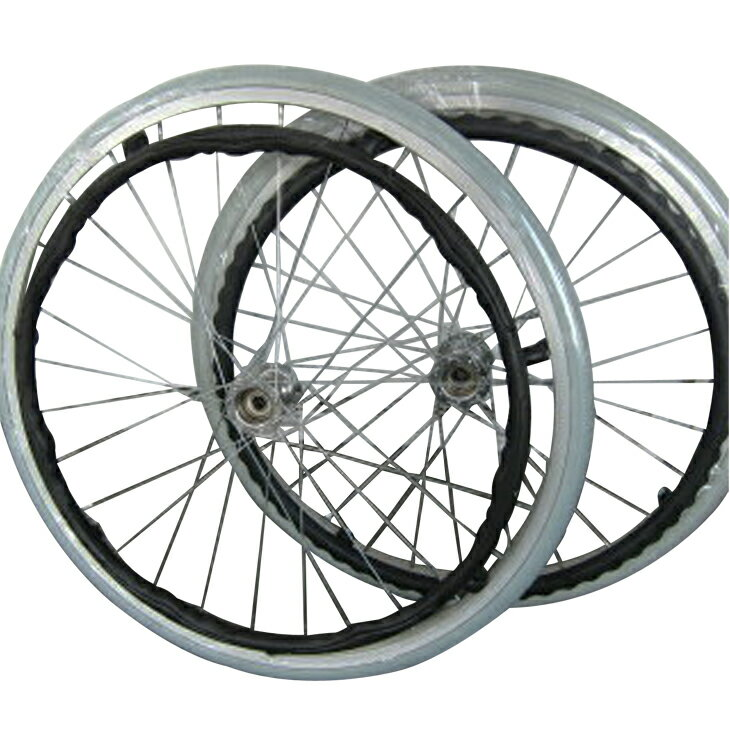 純正部品リア用ホイールタイヤ(グレー)エアータイヤ カドクラ車椅子専用品