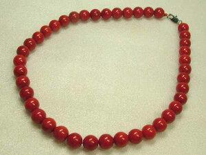 ■龍香堂■☆赤珊瑚 10mm玉ネックレス