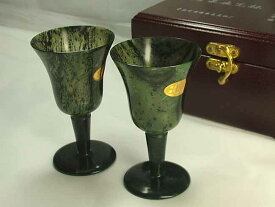 ■龍香堂■☆酒泉「夜光杯」広口ワイングラス2P