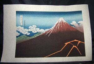 ■龍香堂■☆復刻木版画 葛飾北斎 浮世絵『富嶽三十六景・山下白雨』