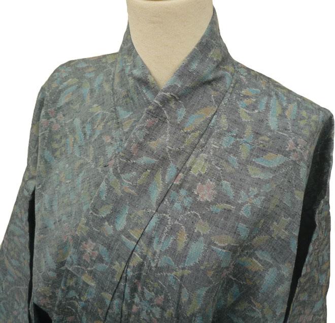 着物 単衣 夏物 紬 正絹 たとう紙プレゼント 質屋出店 リサイクル着物 中古着物 アンティーク着物
