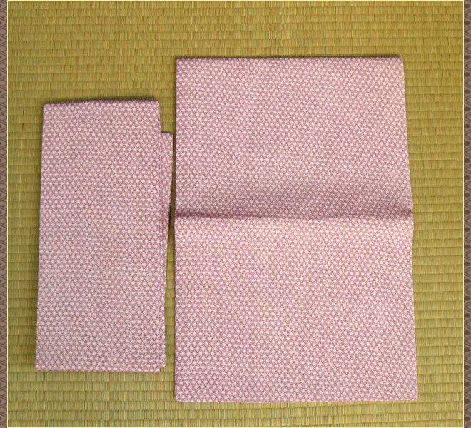 作り帯 化繊 薄紫色