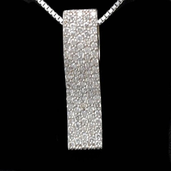 ♪ネックレス♪ K18WG/ダイヤD0.52 【JR912】【税込価格】【質屋出店】【中古】【あす楽対応】