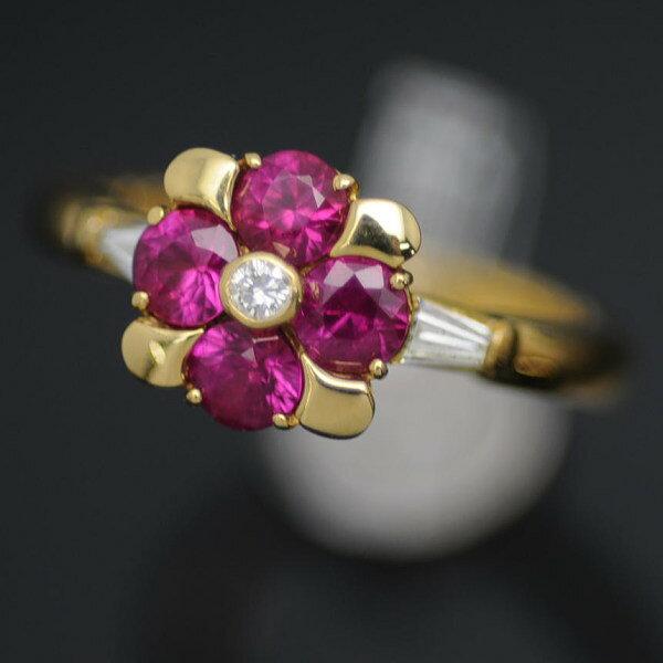 ♪リング 指輪♪ K18/ルビーR0,96 ダイヤD0,18/#12 【JR1329】【税込価格】【質屋出店】【中古】【あす楽対応】