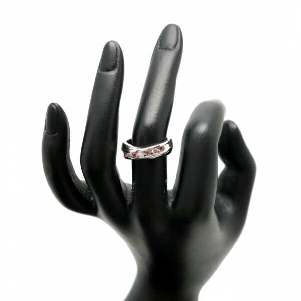♪リング 指輪♪ Pt900/ピンクサファイアPS0,41 ダイヤD0,22/#13 【JR1330】【税込価格】【質屋出店】【中古】【あす楽対応】