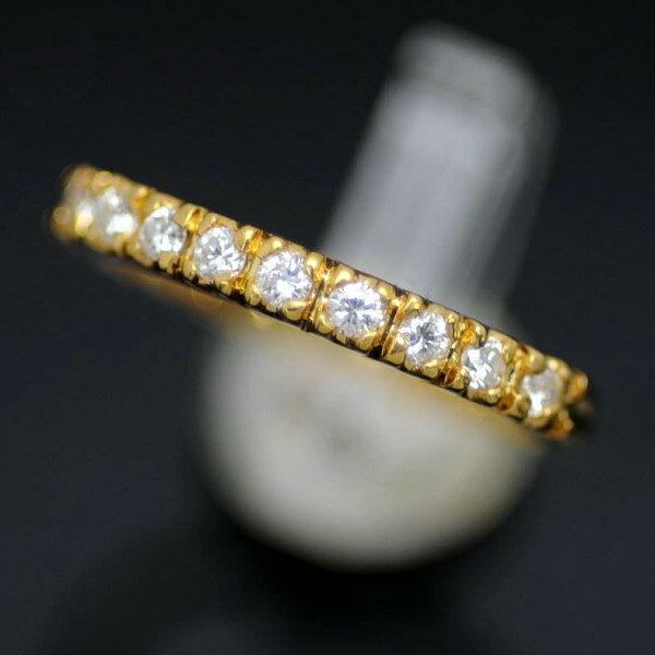 ♪リング 指輪♪ K18/ダイヤD0,15/#4 【JR1449】【税込価格】【質屋出店】【中古】【あす楽対応】