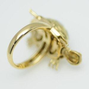 ♪リング指輪♪K18/シェルダイヤD0,18/カメ/#11【JR1460】【税込価格】【質屋出店】【中古】【あす楽対応】