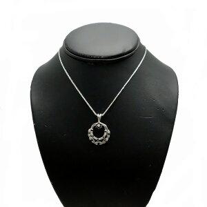 ♪ネックレス♪K18WG/ブラックダイヤダイヤD1,02/スウィング【JR1584】【税込価格】【質屋出店】【中古】【あす楽対応】