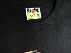 ◆ベイシングエイプABATHINGAPE◆Tシャツ/シャーク/コットン100%/黒/#M【SA4584】【税込価格】【質屋出店】【新品】【あす楽対応】