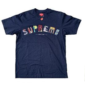 ◆シュプリーム Supreme◆ Tシャツ/City Arc Tee/コットン100%/ネイビー/2019SS/#L 【SA4865】【税込価格】【質屋出店】【新品】【あす楽対応】