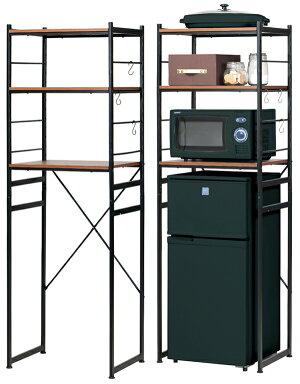 冷蔵庫ラックRZR-4518(ブラウン)W580×D450×H1800mm