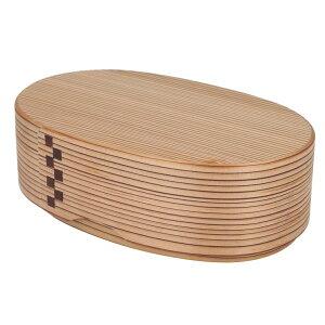 純国産 智頭杉メンツ くるみ油仕上げ 合わせ弁当箱(深中)曲げわっぱ 木製 弁当箱 日本製 まげわっぱ オイルフィニッシュ