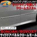 ★SilkBlazeシルクブレイズ★サイドドアパネルクロームモール【80系ノアSi/80系ヴォクシーZs】