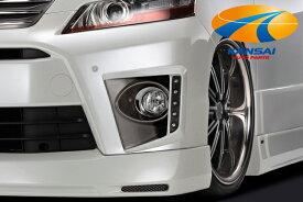 メーカー生産終了ラスト1個K'SPEC GARAX ギャラクス★デイタイムランニングライト付きフォグライトカバー/純正色塗装済み(202ブラック/ガンメタ塗り分け)[20ヴェルファイア後期Z]
