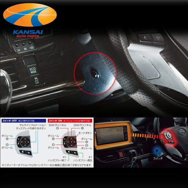 【限定特価】K'SPEC GARAX ギャラクス★ステアリングコントロールキット[80ノア/80ヴォクシー/エスクァイア](ハイブリッド可)