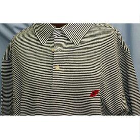 【中古】本物抜群に綺麗パーリーゲイツ紳士用ゴルフに最適白地に黒横ボーダーラインポロシャツサイズ表記3 数回使用
