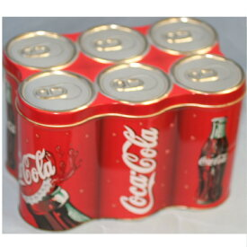 【中古】美品コカコーラ缶6本繋ぎ21x14cm蓋付きケース K-20