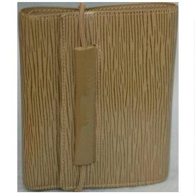 【中古】本物美品L/VM63462女性用エピCペッパ-色パ-ス・エラスティック3つ折り財布