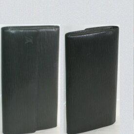 【中古】本物抜群に綺麗L/Vエピの黒い紳士用ファスナーつき長財布M63592 サイズW19,5H11D2cm ○C13-15